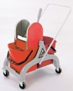 Double Bucket Mopping Trolley